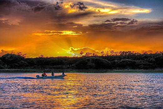 Little Boat Sunset by Ed Roberts