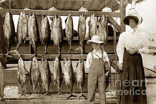 California Views Mr Pat Hathaway Archives - Little Boy and his Mother by Tuna Fish Tuna Club of Santa Catalina 1903