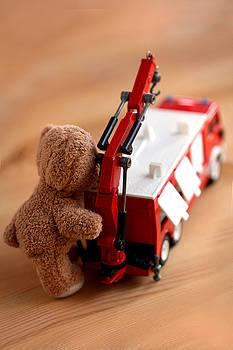 Little Firefighter Bear by Elke Rampfl-Platte