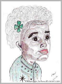 Little Girl With A Green Bow by Anthony Benjamin