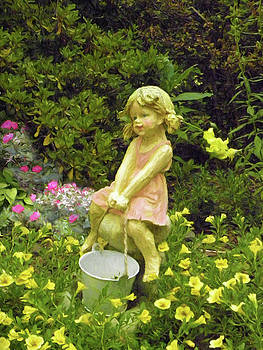 Little Girl With Pail by Sandi OReilly