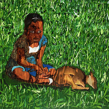 Little Girls and Dogs II by Warren Goodson