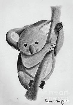 Little Koala On A Tree by Naomi Burgess