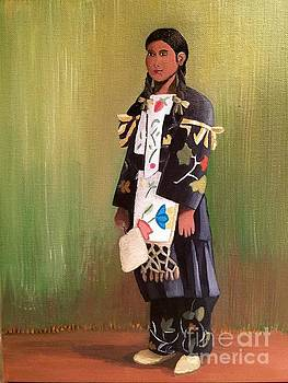 Little Ojibwe Girl by Jennefer Chaudhry