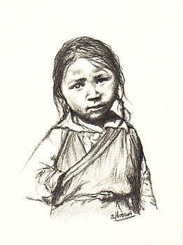 Little Peasant Girl by Stephanie  H Johnson