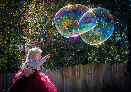 Little Princess and Tiny Bubbles by Black Brook Photography