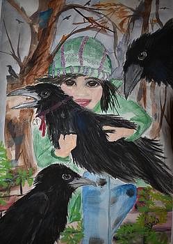 Little Raven in the forest by Susan Voidets