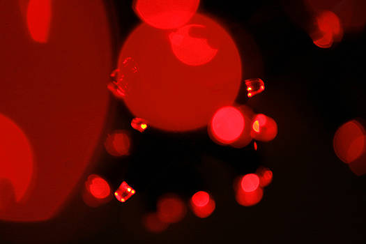 Little Red Lights Abstract Art to Buy by Toby Davis