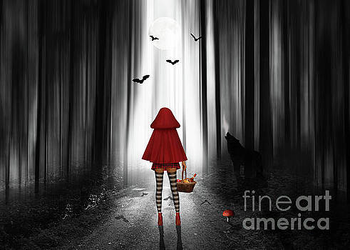Little Red Riding Hood and the wolf by Monika Juengling