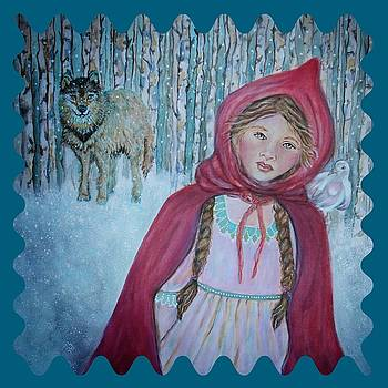 Little Red Riding Hood  by The Art With A Heart By Charlotte Phillips