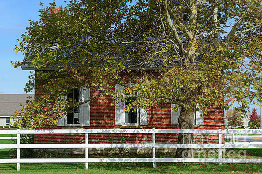 Little Red Schoolhouse by Ohio Stock Photography