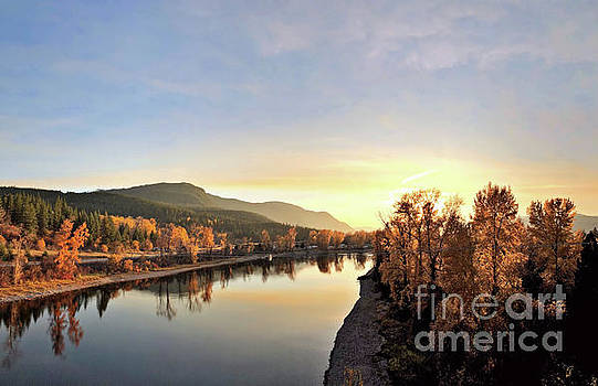 Little River In The Fall 3 by Victor K