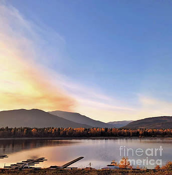 Little River In The Fall by Victor K