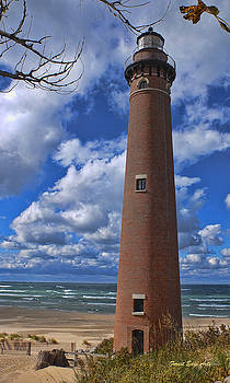 Little Sable Point Light by Dick Bourgault