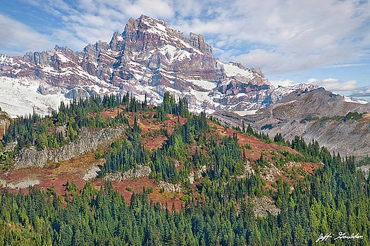 Little Tahoma Peak and Stevens Ridge in the Fall by Jeff Goulden