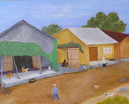 Little Village In Northern Vietnam by Thi Nguyen
