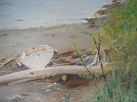 Little white boat by Joyce Reid