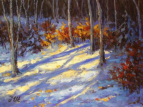 Little winter landscape. by Julia Utiasheva