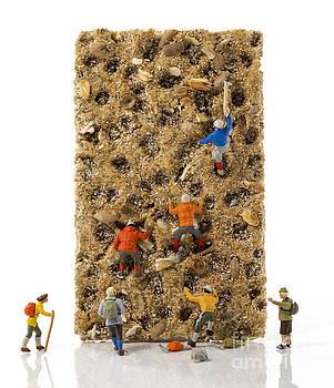 Compuinfoto   - little world puppets at climbing wall