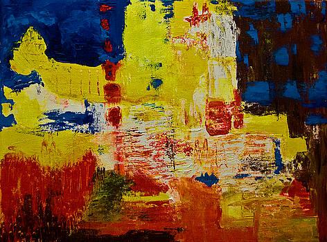 Little yellow crying whale by Gabi Dziok-Grubb