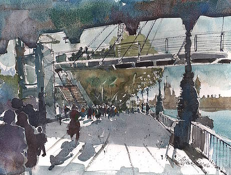 Lively Southbank London by Gaston McKenzie