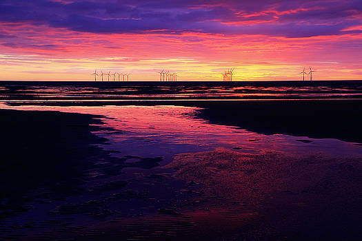 Liverpool Bay Purple Sunset by David Chennell