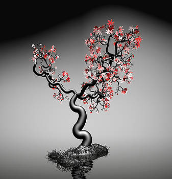 Geometric Tree In Water 1 by GuoJun Pan