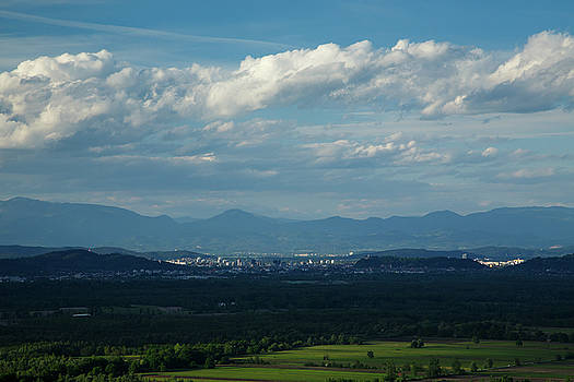 Ljubljana across the moors by Ian Middleton