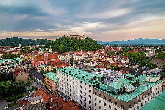 Ljubljana at sunset by Travel and Destinations - By Mike Clegg