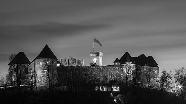 Vyacheslav Isaev - Ljubljana castle in black and white