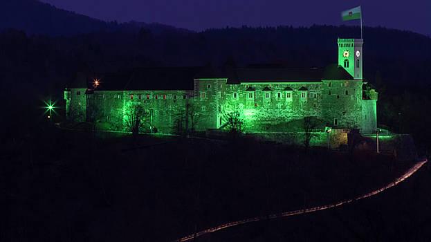 Vyacheslav Isaev - Ljubljana castle in green