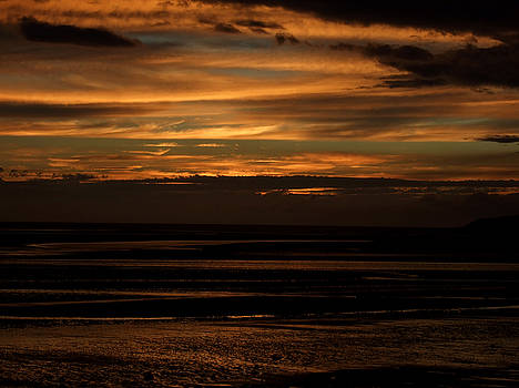 Llandudno Sunset at west shore by Gary Rowlands