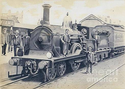 LNER D-series steam locomotive photo reproduction of 1900 by Oleg Kozelskiy