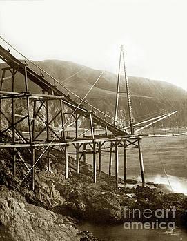 California Views Archives Mr Pat Hathaway Archives - Loading chute at Bixby Landing and Creek Big Sur  Circa 1885