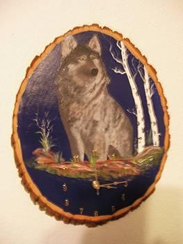Lobo Clock by Al  Johannessen