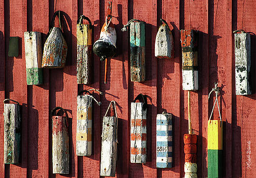 Michelle Constantine - Lobster Trap Markers Motif Rockport Massachusetts