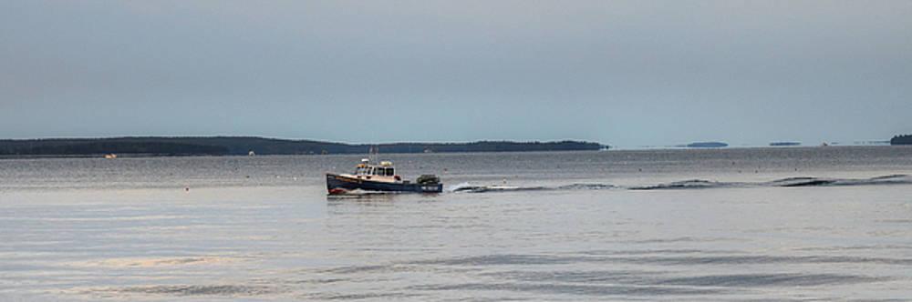 Lobsterboat Freedom II - Panoramic by Geoffrey Coelho