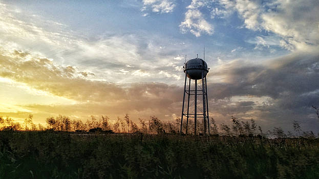 Local water tower  by Dustin Soph