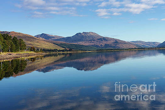 Loch Carron Reflections by Diane Macdonald