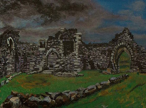 Loch Doon ruins as it is in 2013  by Patricia Hovey
