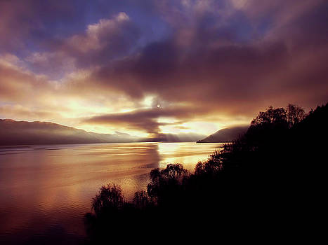 Loch Ness Winter Sunset by Jacqi Elmslie