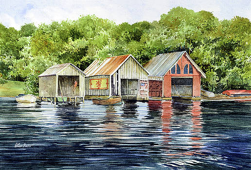 Lochness Boathouses by William Band