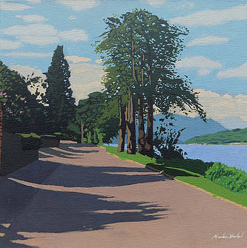 Lochside road by Malcolm Warrilow
