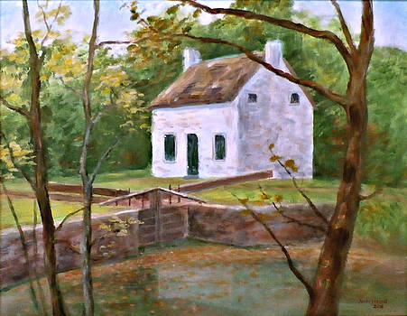 Lock and Lockhouse at Pennyfield, C and O Canal by Nancy Heindl