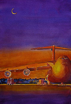 Lockheed Galaxy C-5 Aircraft by Betsy Aguirre