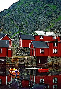 Steve Harrington - Lofoten Fishing Huts oil