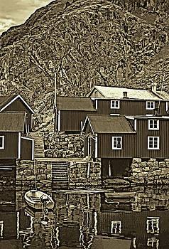 Steve Harrington - Lofoten Fishing Huts - Sepia