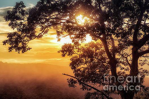 Loft Mountain Overlook Sunset by Thomas R Fletcher