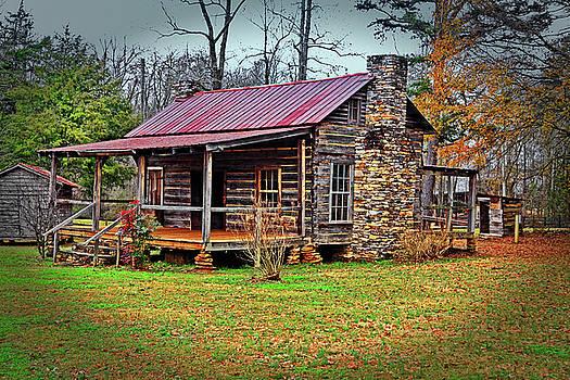 Log Cabin 001 by George Bostian