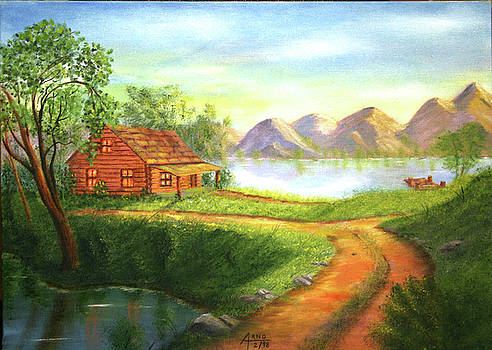 Log Cabin by Arno Clabaugh